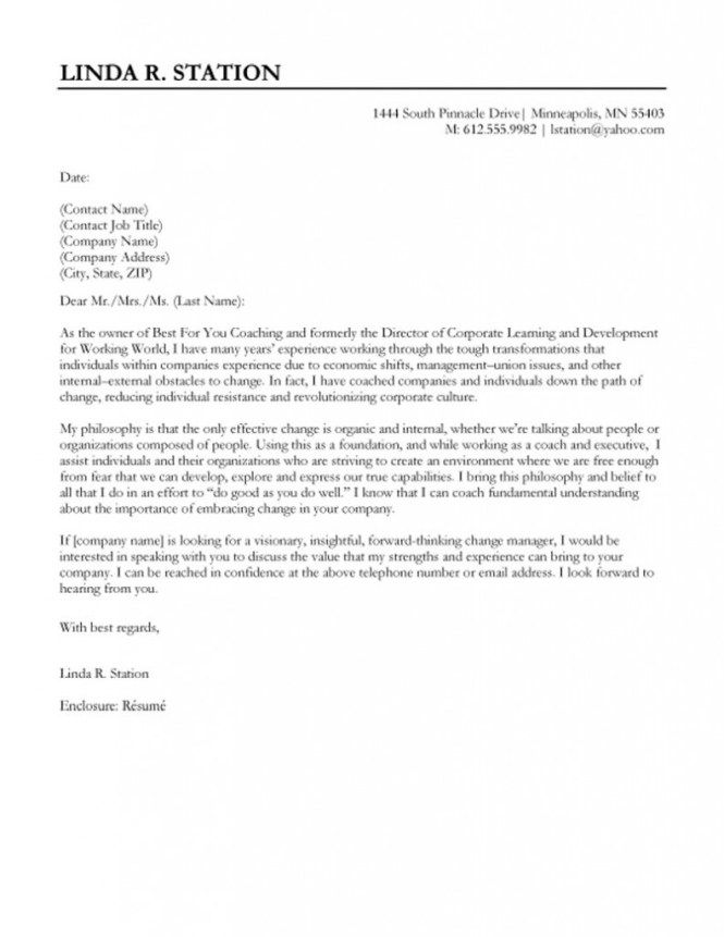 Cover Letter Template Quora | Cover letter for resume ...