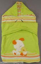 Nid d'ange cosy poussette nacelle tricot molletonné vert Prénatal 44x77cm
