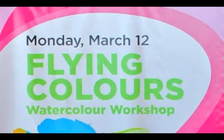 Day 1 of #March Break Fun Camp at Billings Bridge - Flying Colours Watercolour Workshop: http://on.fb.me/zcC8MV    Check out the entire schedule: http://billingsbridge.com/march-break/