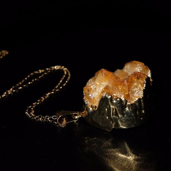 Citrine Druzy Gem Medicine Necklace-Dr Druzy-Dr Druzy