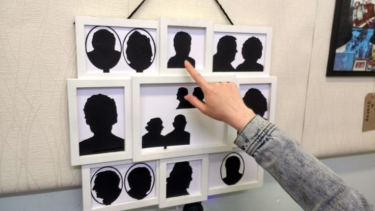 Digital Storytelling using conductive paint and Bare Conductive Circuit board.  Following on a theme of silhouettes for a project called Home Stories.  The audio story can be heard after the silhouette picture is touched and each story can be interrupted by each consequential touch.
