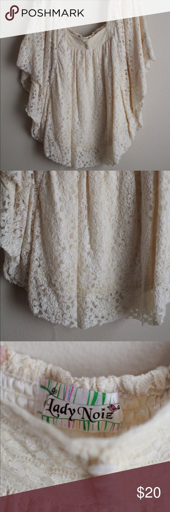 Lace Angel Tunic Blouse Find from a boutique shop, beautiful lace material lined beneath with silky material. Would require some kind of undershirt. Great for going out two-stepping or casual events. Lady Noiz Tops Blouses