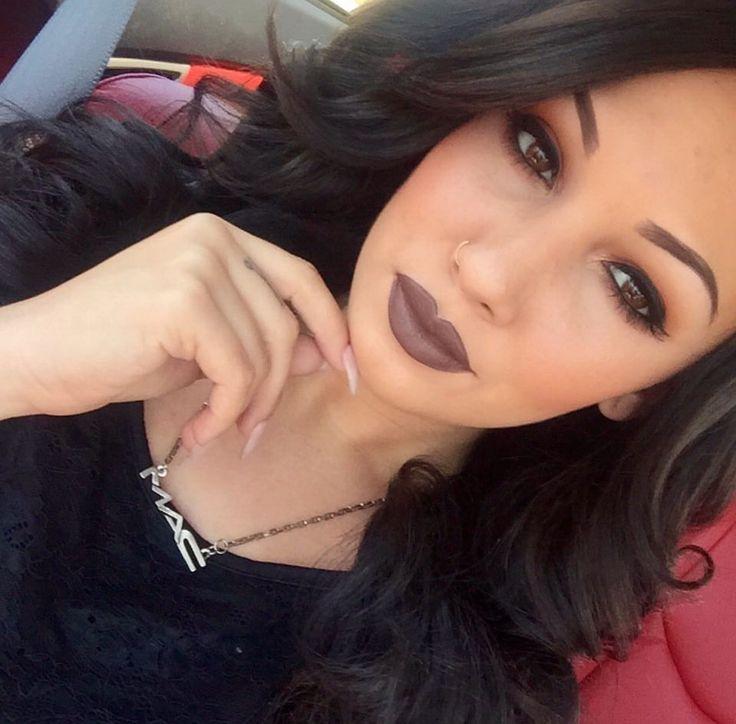 MAC chestnut lip liner and Mac stone lipstick. Lip perfection