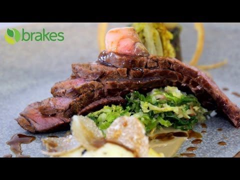 Michelin star chef Richard Phillips, creates scallops, beef and strawberry recipes - YouTube