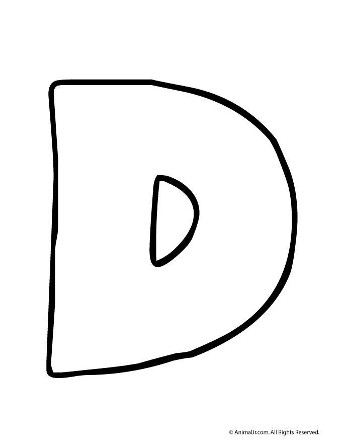 Printable Bubble Letters Letter D Craft
