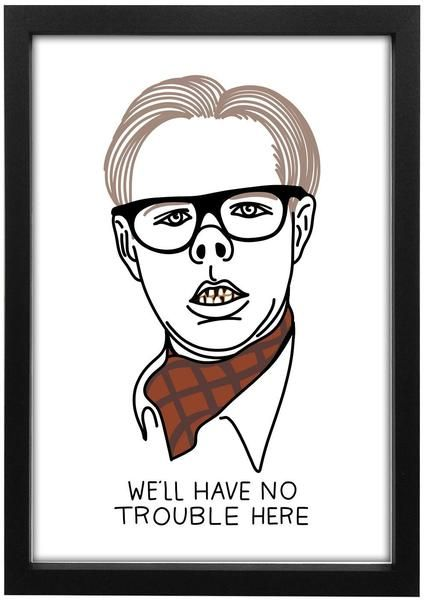Limited edition League Of Gentlemen - Local Shop For Local People Art Print Print Size - A3 Frames are not included..