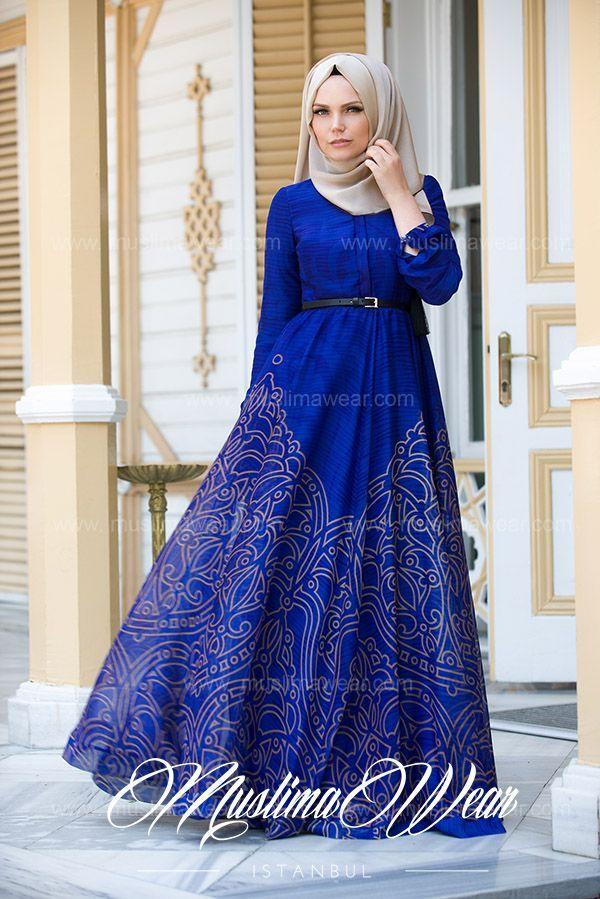 Muslima Wear Magic Blue Dress-Jubah & Abaya