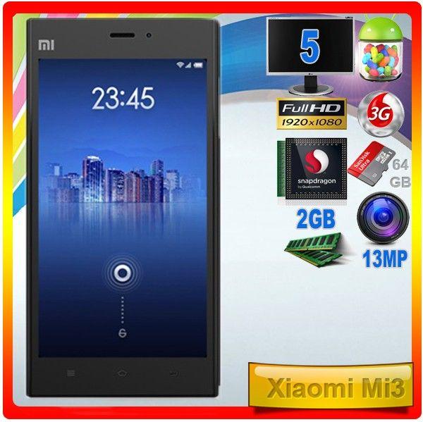 Xiaomi Mi3  El buque insignia de Xiaomi en su versión más potente con 64GB