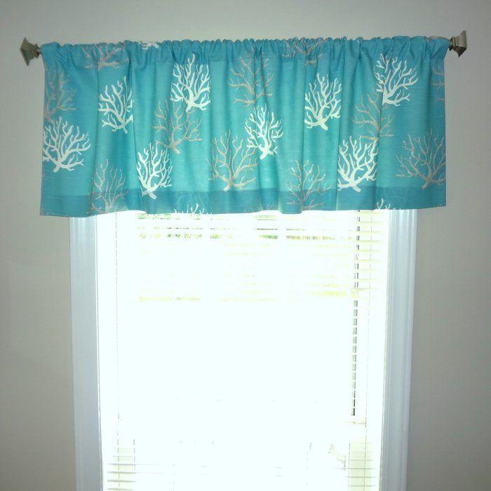 Nautical Ocean Coral 52 Curtain Valance Valance Curtains