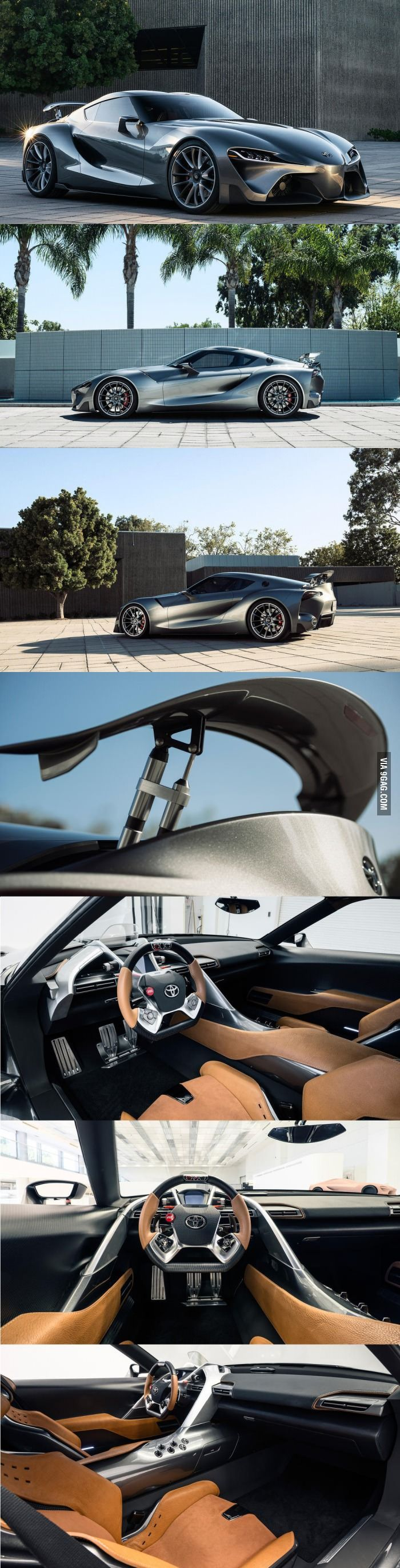 The Toyota FT 1 From Different Angles And Also Interior