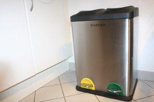 Klarstein Ökosystem 2 x 18 Edelstahl-Tretabfalleimer 36 Liter im Test auf Mackencheck.de #Klarstein #ökosystem #abfalleimer