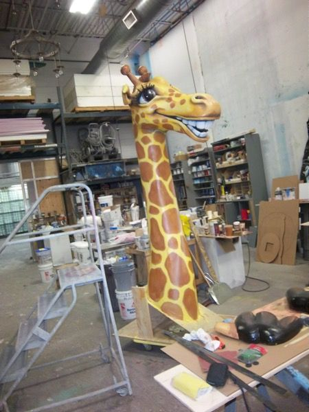Check out the giraffe we are making to greet patients from the roof at our Grand Dental - Aurora office! #granddental