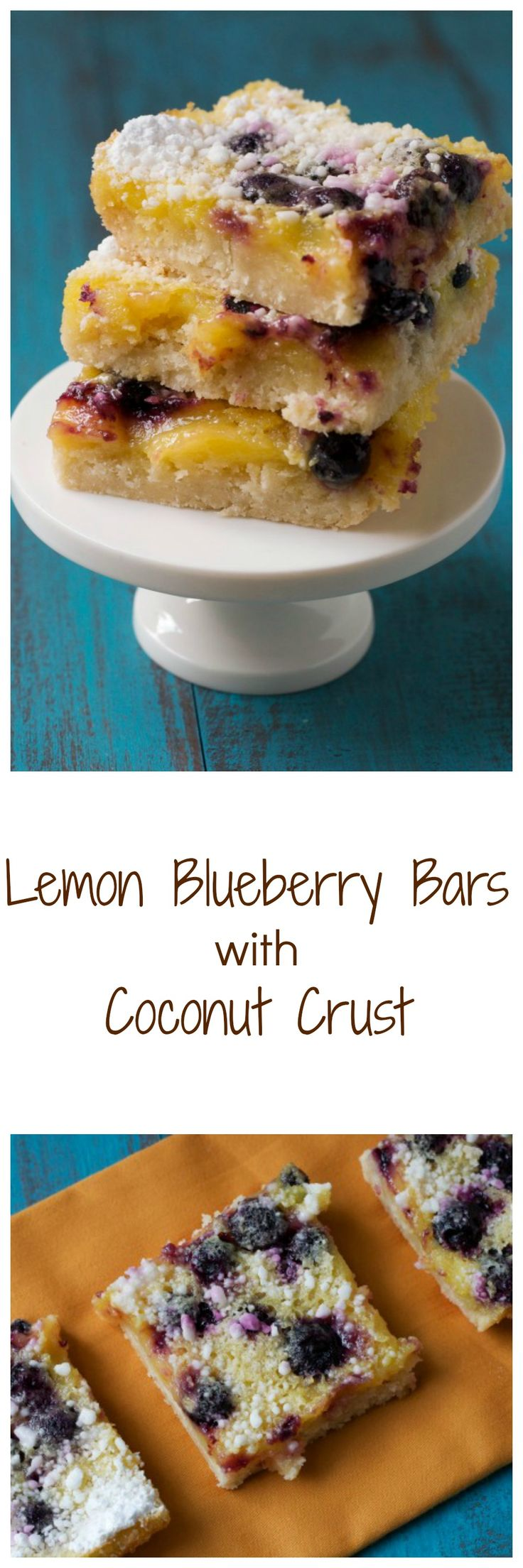Lemon Blueberry Bars with Coconut Crust - the PERFECT dessert for citrus lovers!
