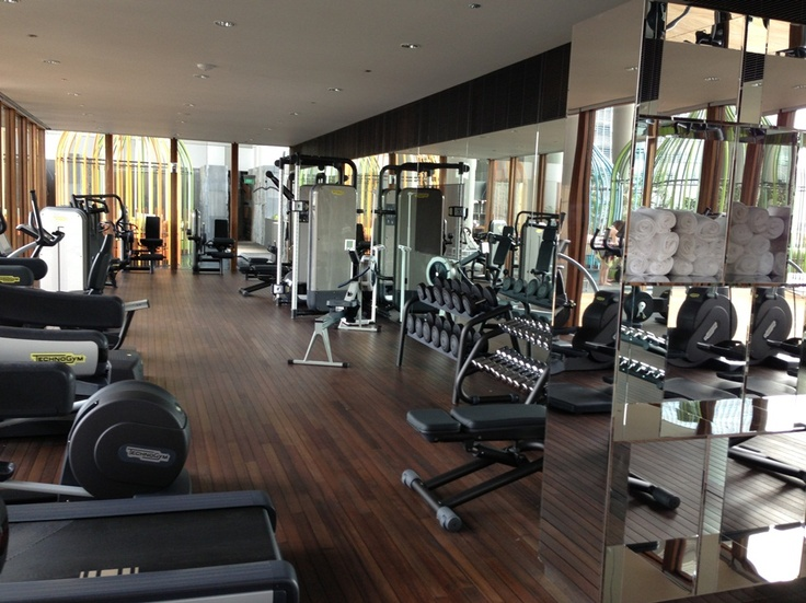 We love the gym in parkroyal on pickering hotel s rooftop