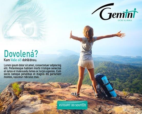 Photo contest for eye clinic Gemini Facebook app
