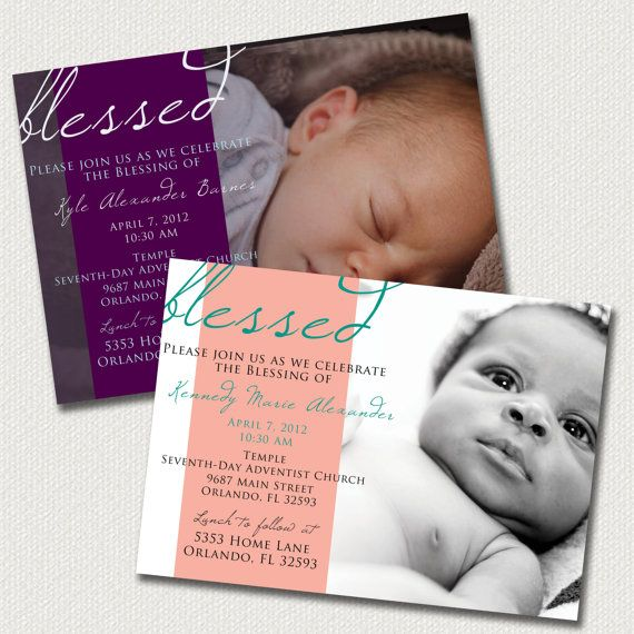 Baby Dedication Blessing Christening Invitation by LeitsisPieces