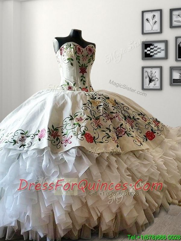 Mexican Style,Western Style Quinceanera Dress, white quinceanera dress, embroidery, wholesale dress, 15 vestido, sweet sisteen dress, dress, dresses, quinceaneras,
