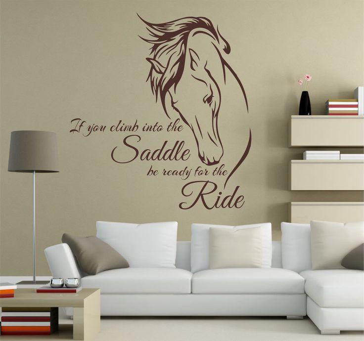 Horse Wall Decal, Horse Decal, Horse Decor, Horse Art, Horse Wall Decals, Horse Decals, Equine Decor, Equine Art - WD0134 by SignJunkies on Etsy https://www.etsy.com/listing/230640462/horse-wall-decal-horse-decal-horse-decor