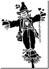 halloween stencil scarecrow - dont think I could do this on a pumpkin - but another suggestion in the article was for a window stencil.