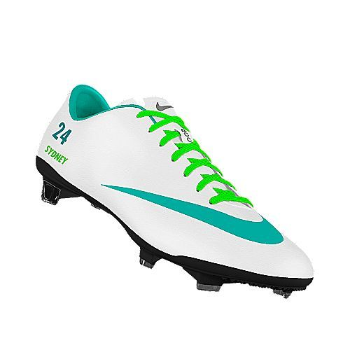 I designed this at NIKEiD...so cool! personalize your cleats(: