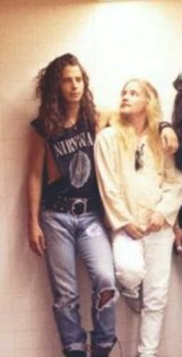 Chris Cornell and Andy Wood. Andy, you were such a doll, let me put you in my pocket.