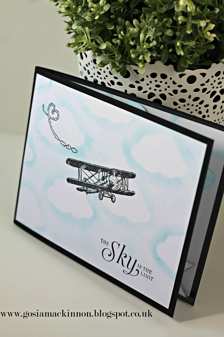 """A lovely card using Stampin' Up """"Sky Is The Limit Stamps Set"""", Whisper White & Basick Black card stock, Window Sheet, Multipurpose Liquid Glue, Tear & Tape Adhesive, Tempting Turquoise & Basic Black Stampin Ink Pad. If You like to make one for Your Friend, Mum, Dad or anyone Click the link below to go to Stampin, Up Shop and order Our high quality products. Thank You. http://www2.stampinup.com/ECWeb/default.aspx?dbwsdemoid=5019394"""