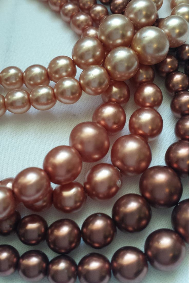 Vintage Faux Pearl Necklace Six Strand Necklace, Pink Pearl Necklace,  1950's Necklace Vintage Wedding Jewellery