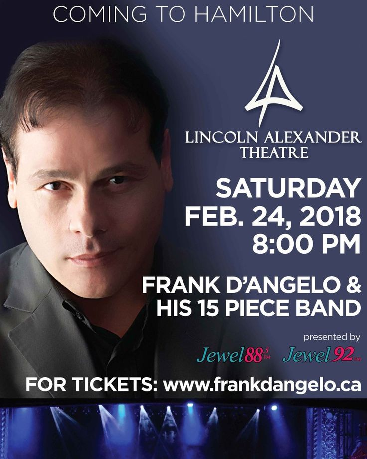 Looking forward to performing in Hamilton February 24th.  Please come hang out with me. Cheers www.frankdangelo.ca