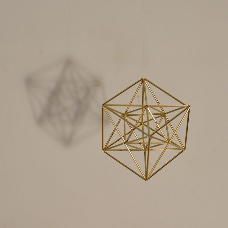 Small Merkaba Himmeli, 3D Sacred Geometry Pendant