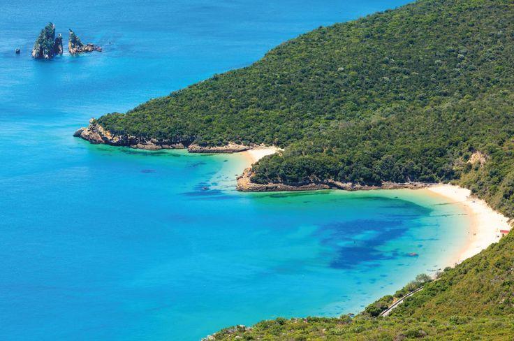Arrabida beach in Setubal  - Best beaches in Europe - Copyright   Landscape Nature Photo