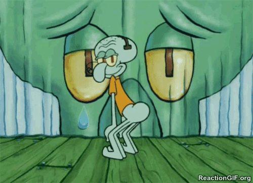 You go squid ward he basically started twerking just sayin