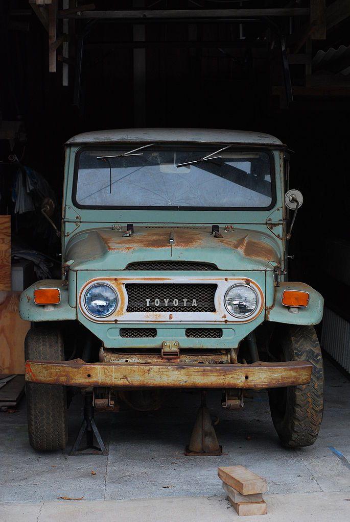 color, Toyota jeep, vintage, rustic.