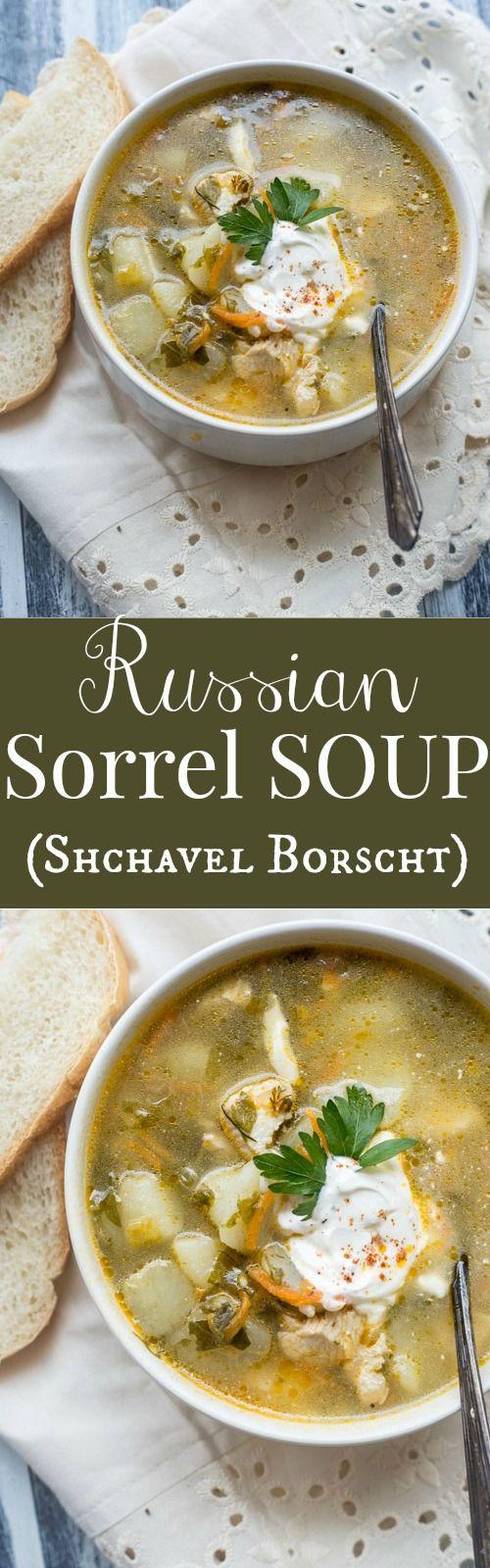 Sorrel Soup (Green Schavel Borscht) ValentinasCorner.com