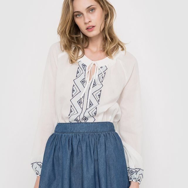 Embroidered Long-Sleeved Blouse LES PETITS PRIX