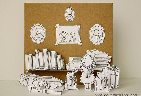 Los gatos les encanta leer foto tamaño carta por Caracarmina