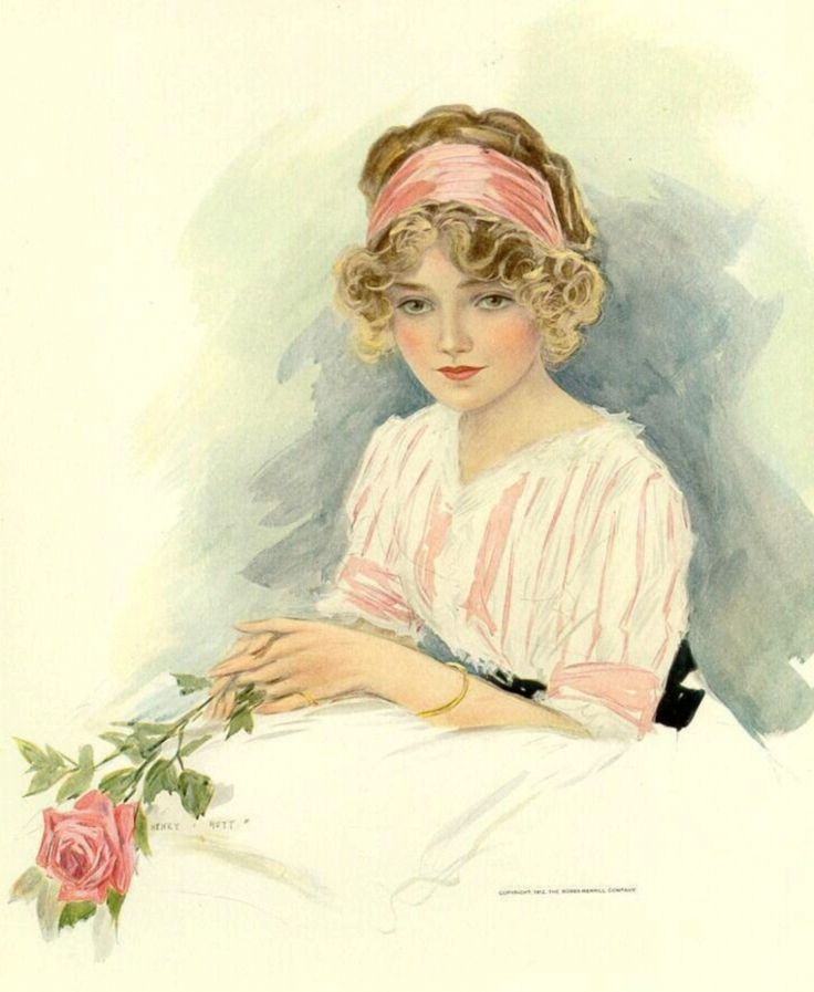 Открытка, открытки старинные женские