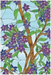Biscayne Privacy Stained Glass Window Film