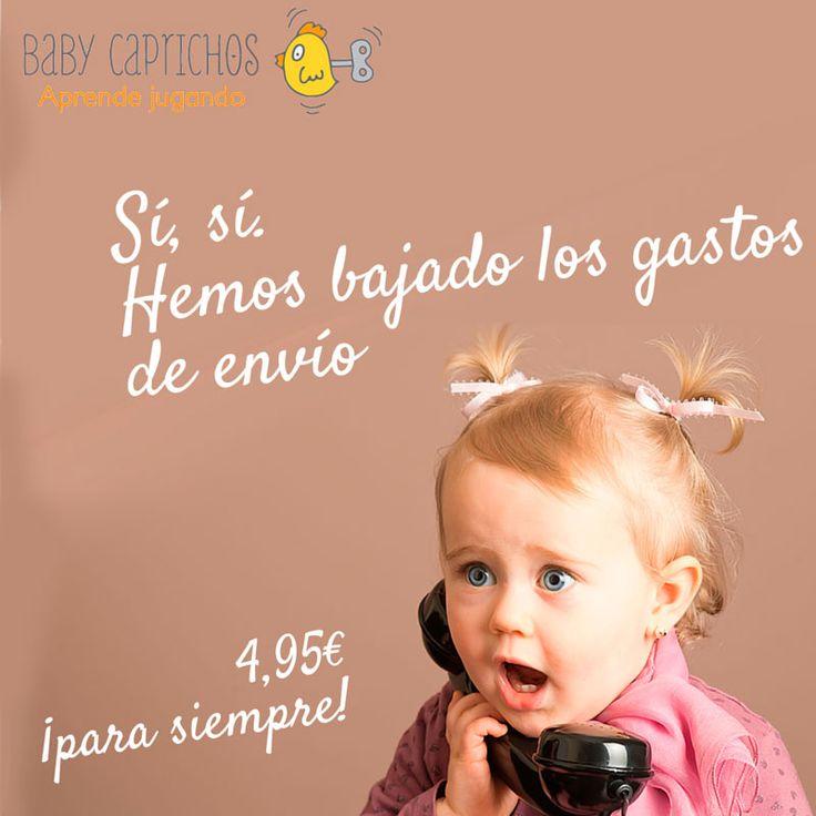 Por fin viernes!  Y... ¡BUENAS NOTICIAS desde Baby Caprichos! #gastosdeenvío #rebaja #juguetes