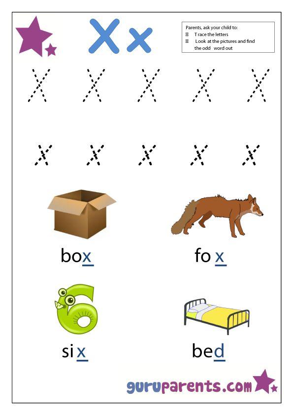 17 Best Images About Preschool Letter X On Pinterest