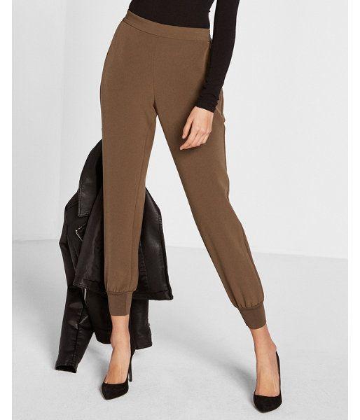 Soft Twill Dressy Jogger Pant Green Women's XX Small