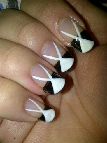 1000 images about black and white nail art on pinterest