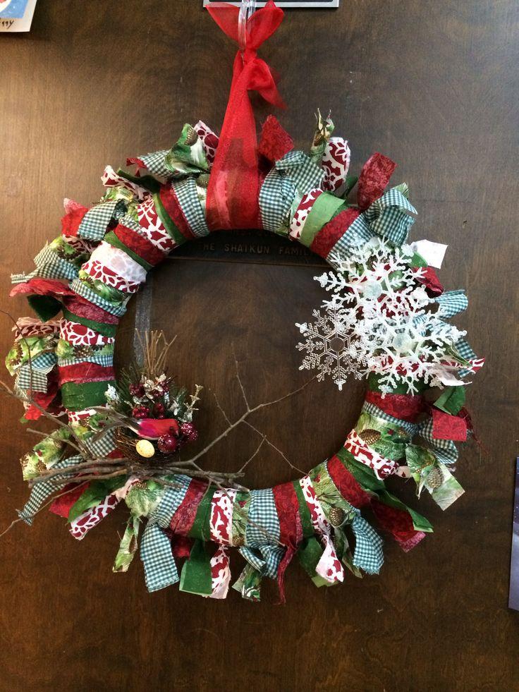 Christmas pool noodle wreath