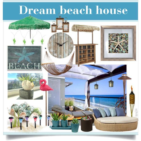 Dream Beach House #2 by ilona2010 on Polyvore featuring interior, interiors, interior design, maison, home decor, interior decorating, Sunset West, Home Styles, Sunnylife and Sterling