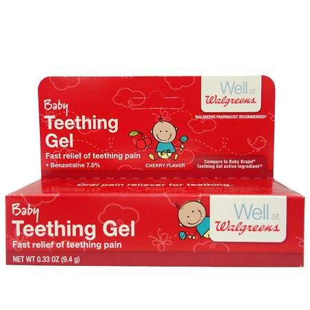 Walgreens Baby Teething Gel Cherry - 0.33 oz.