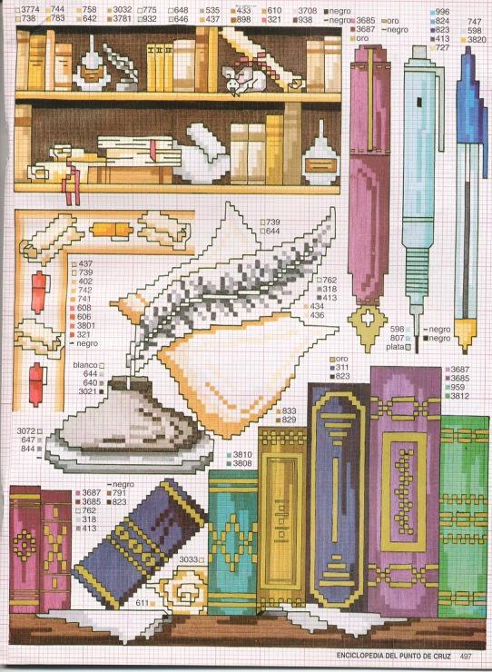 Gallery.ru / ENCICLOPEDIA ITALIANA 3 Фото #124 {books + writing cross stitch pattern}
