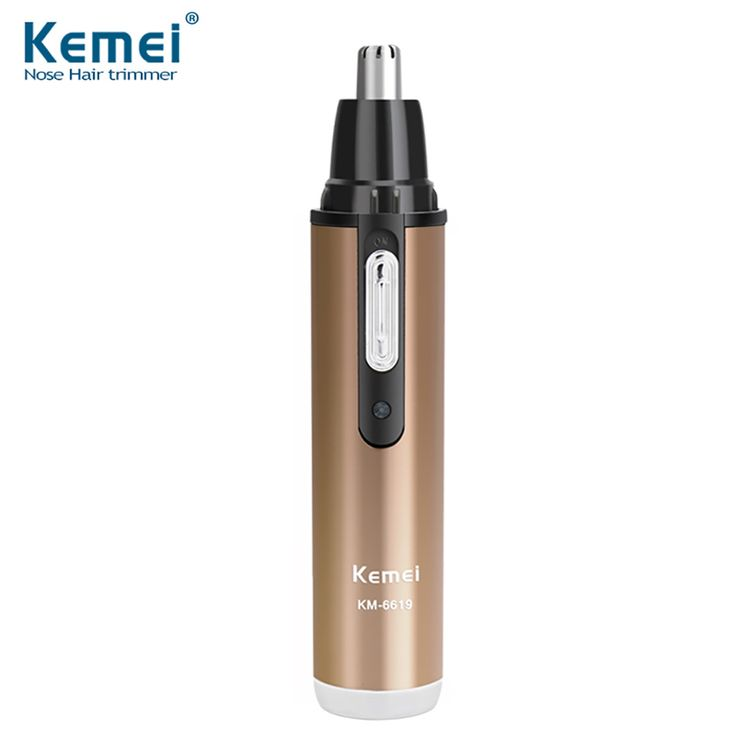 Kemei KM-6619 Professional Rechargeable Nose and Ear Hair Trimmer For Men Nose Hair Cut Electric Man Nose Hair Trimer Men's GIft #Affiliate