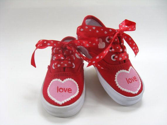 Girls Valentine Shoes Baby and Toddler by boygirlboygirldesign, $30.00