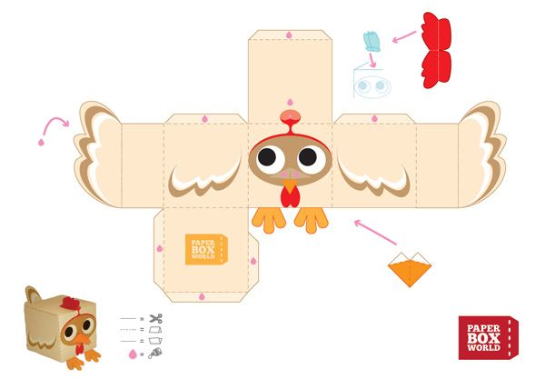 Image detail for -692 poulet paper toy template Petit poulet