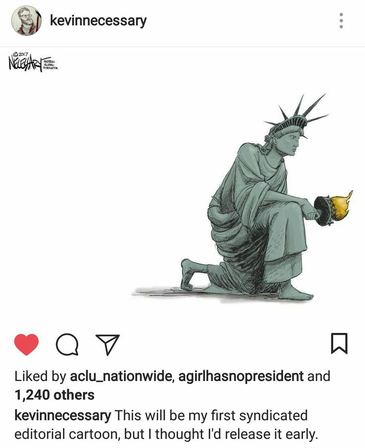 Lady Liberty taking the knee. ❤️