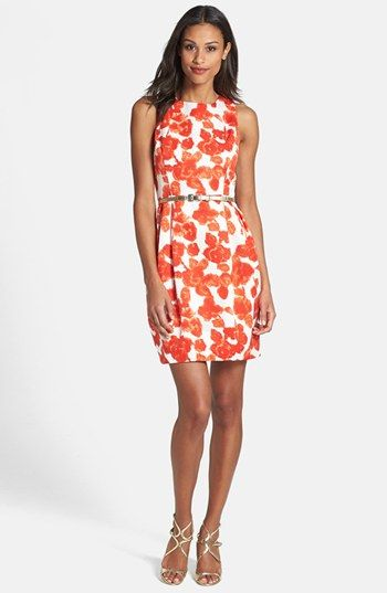 Graduation dress? Eliza J Belted Print Sheath Dress (Regular & Petite) available at #Nordstrom